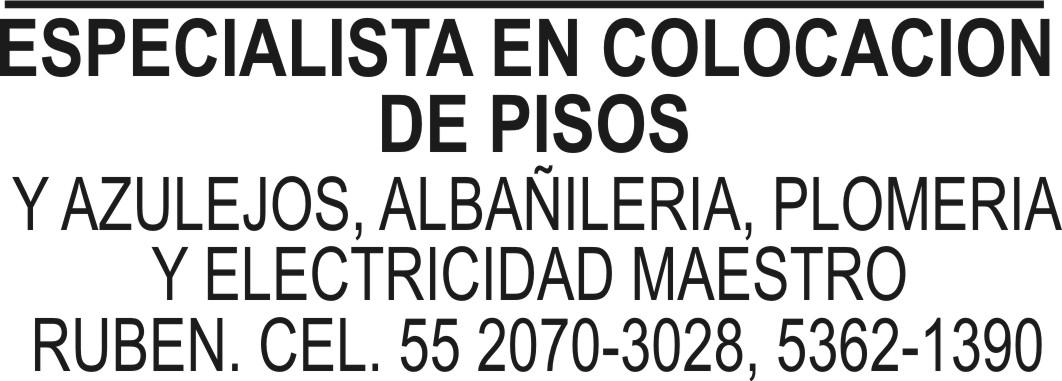 ESPECIALISTA EN COLOCACIÓN DE PISOS Y AZULEJOS ALBAÑILERÍA, PLOMERÍA ...